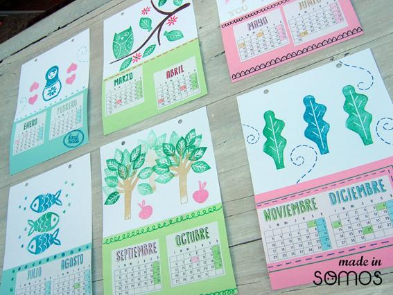 quieres hacer un calendario tan chulo como ste made in somos este sbado de enero comenzamos nuestros talleres