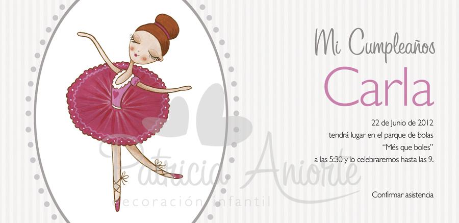 Invitacion Para Cumpleanos De Bailarinas Dancer Birthday Invitation
