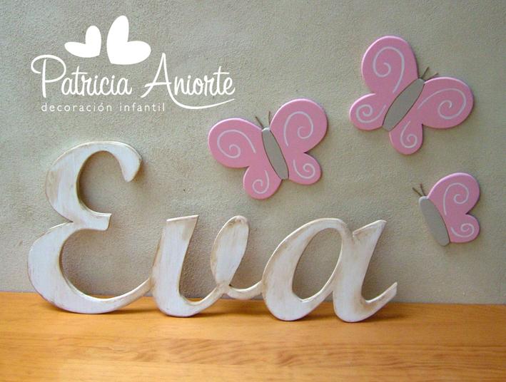 Letras para bautizo imagui - Como decorar letras de madera ...
